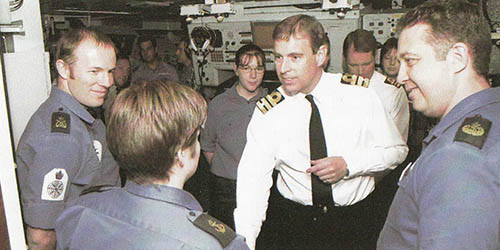 Duke of York on Ark Royal