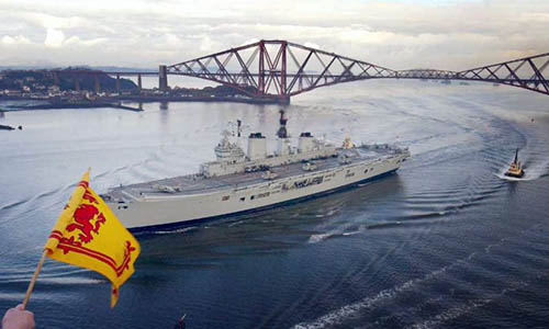 Ark Royal approaching Rosyth