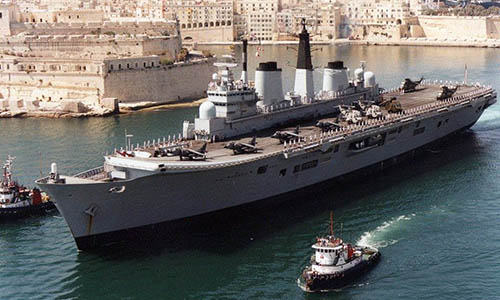 Ark Royal in Malta 93