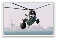 Sea King AEW off Kuwait City