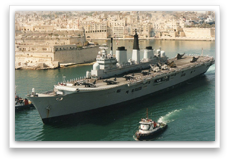 Ark Royal in Malta 1993