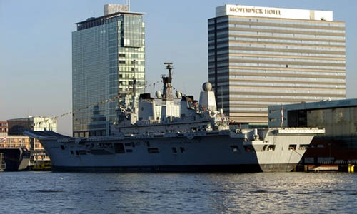 HMS Ark Royal in Amsterdam