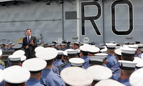 David Cameron on Ark Royal