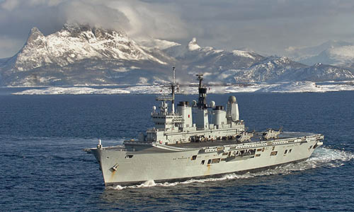 HMS Ark Royal off Norway